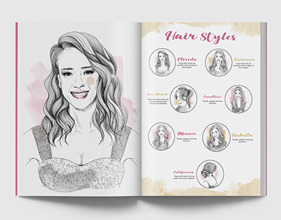Hair Styles Drawing Illustration
