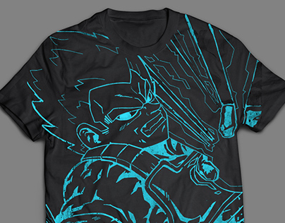 SSJ Blue Vegeta shirt design