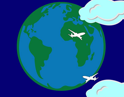 Animation of the Earth and the planes