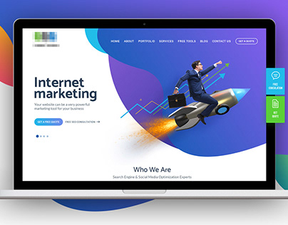 Internet marketing landing page