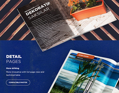 Flower Pots Catalog Design and Product Photography