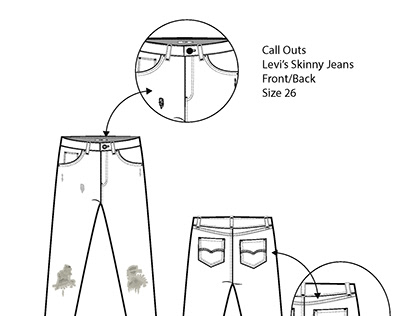 Technical Drawing x Levi's Skinny Jeans