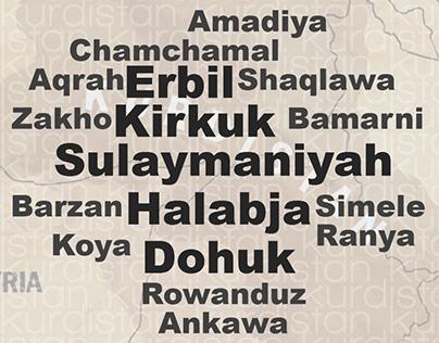 Southern Kurdistan wordcloud