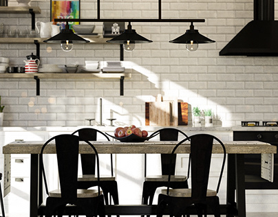 Kitchen Renovation - Athens 3d Viz