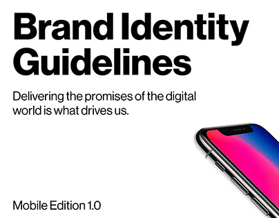 Brand Identity Guidelines for Mobile / Verizon