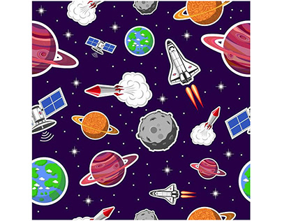 Space seamless pattern Vector Art