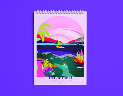 Illustration Îlet Pinel — Saint Martin