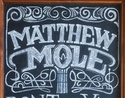 Matthew Mole Chalkboard
