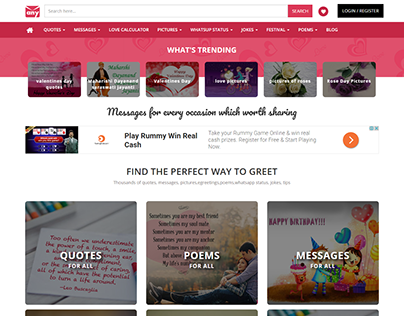 Dynamic Website Development for Anytime Messages