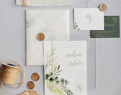 Rustic Union Invitation — Tabita Andrew