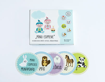 Baby stickers and packing design