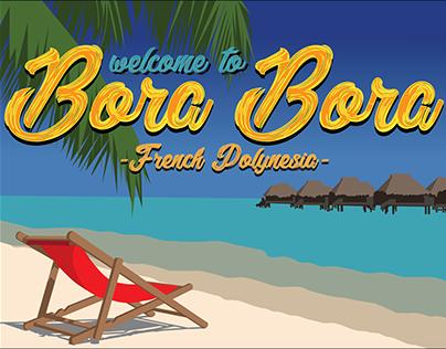 "Travel Poster ""Bora Bora"""
