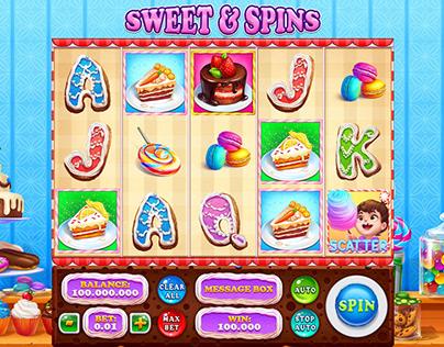 """Online slot machine – """"Sweet & Spins"""""""