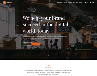 Agency Template for the Inbound WordPress Theme