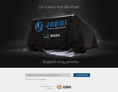 Jordi // Landing & Microsite