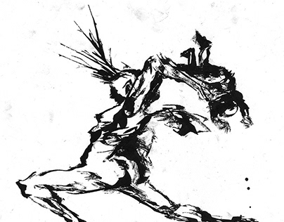 Stick/stalk and ink