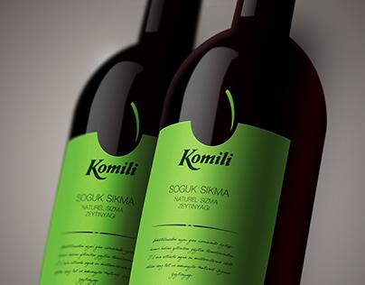 Komili Olive Oil Label Design