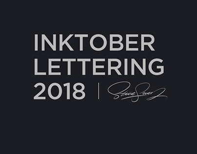 INKTOBER LETTERING 2018