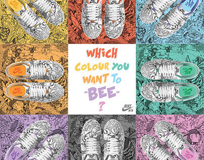 Nike NTR ( Bee's Collection ) | Branding, Illustration