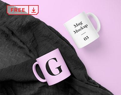 Free Mug PSD Mockup