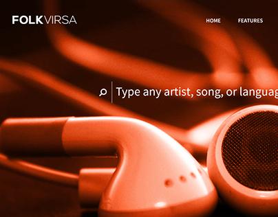 FolkVirsa Landing Page
