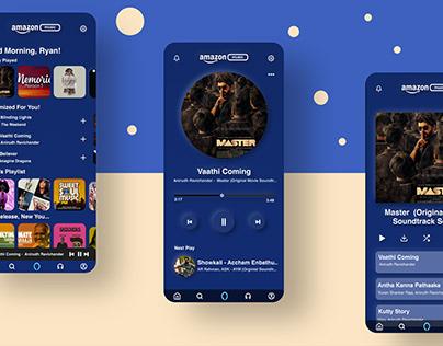 Neumorphisti UI design concept of Amazon Music