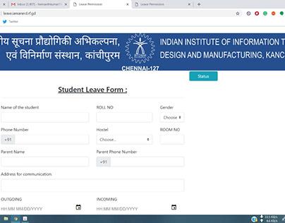 Student Leave Form - IIITDM
