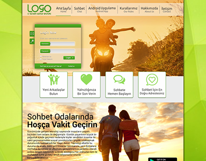 Arkadaşlık Sitesi Arayüz Tasarımım