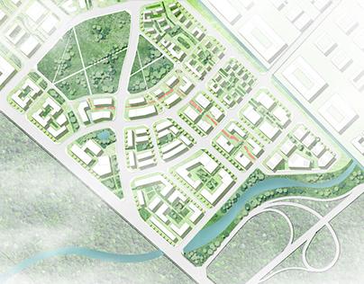 Urban Design Master Plan Rendering