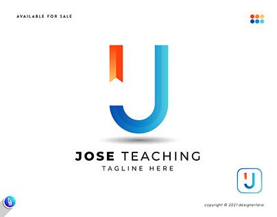 J BookMark - Education Logo - J Logo - Modern J Logo