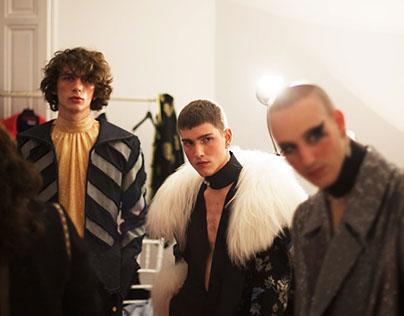 Backstage Palomo Spain fashion show