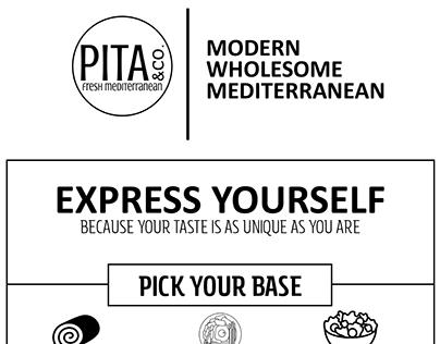 """""""Pita & Co."""" Mediterranean Menu"""