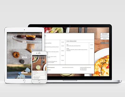 WordPress eCommerce theme design for restaurant