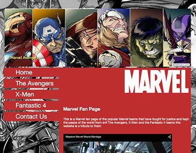 Marvel Fan Page Website
