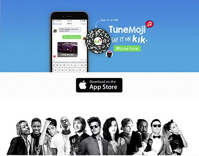 Tunemoji - website v3