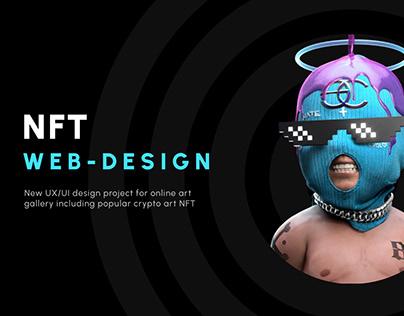 NFT crypto art web Design