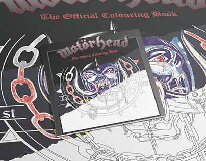 Official Motorhead Adult Colouring book