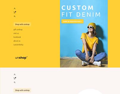 DENIM Collection Website (Part 1)