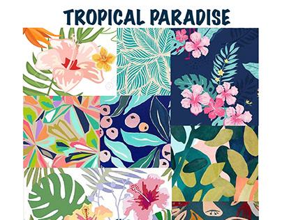 Tropical Paradise - Print Repeat Patterns