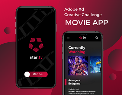 Adobe Creative Challenge Movie App