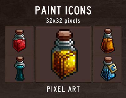 Free 48 Paint Pixel Art Icons