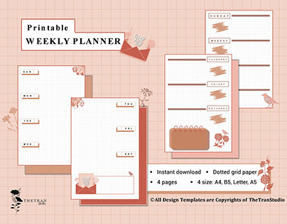 Weekly Planner | Digital & Printable Template