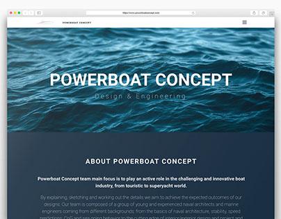 Powerboat Concept | Website