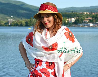 Summer scarves 2020 AliaArt