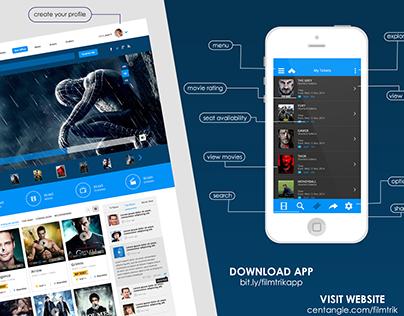 FilmTrik - Web and Mobile App Design