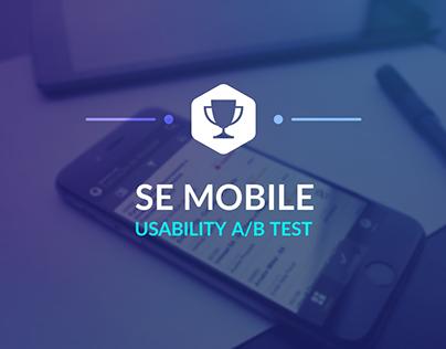 SoftExpert Mobile Usability A/B Test