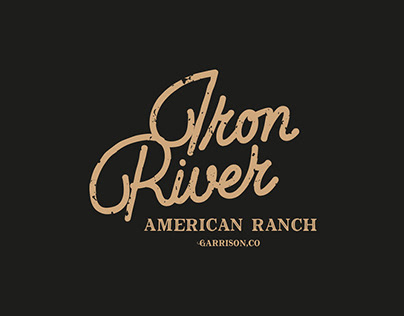 IRON RIVER Lettering