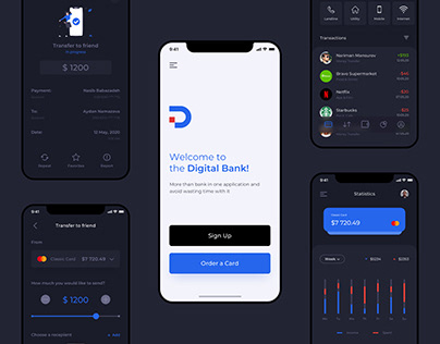 Digital Bank - Mobile Banking App UX/UI