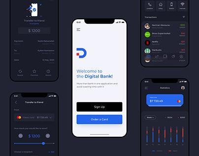 Digital Bank - Mobile Banking App UX/UI