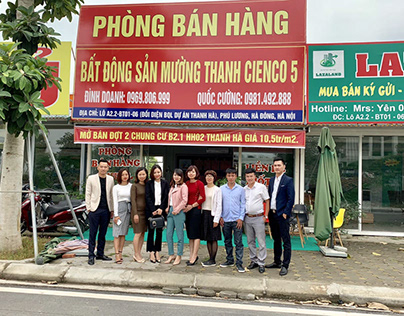Phòng bán hàng chung cư Thanh Hà thuộc sàn Mường Thanh